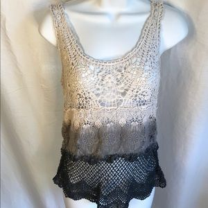 American Eagle Outfitters crochet ombre tank top